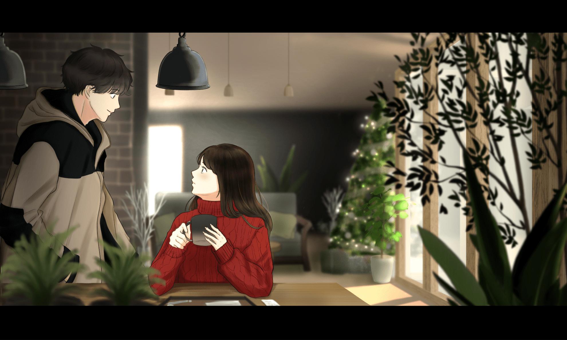 カフェで出会う